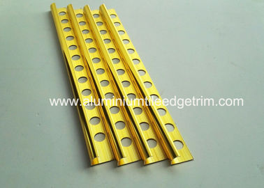 10mm Round Edge External Corner Tile Trim Bright Polished Golden Effect